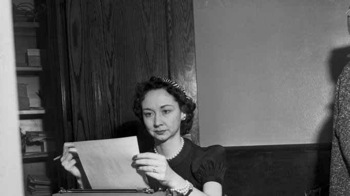 Dorothy Kilgallen at Typewriter