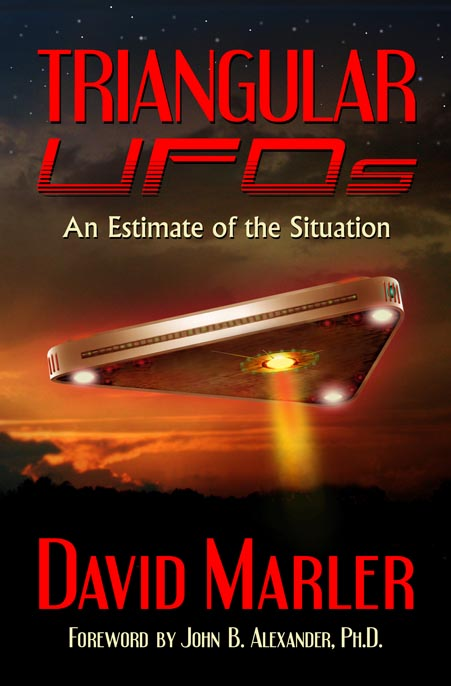 TriangularUFO book cover UFO MarlerTUFOsFace