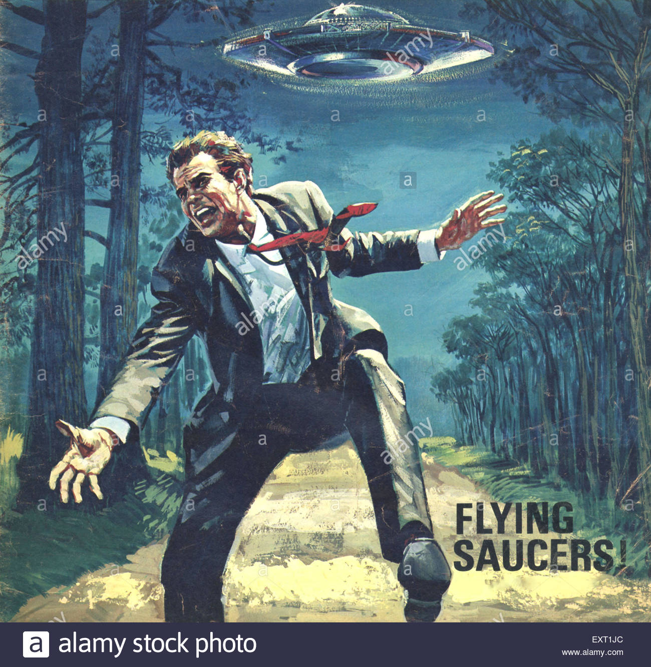 Photos Extra Running Man ( httpwww.alamy.comstock-photoflying-saucers.html ) 1960s-uk-flying-saucers-magazine-cover-detail-EXT1JC