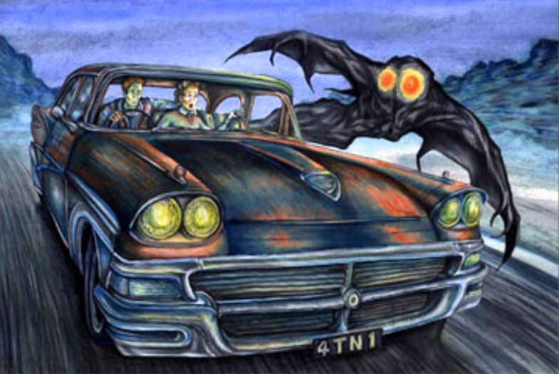 Photos Extra Car and Moth ( httpthemothman.wikia.comwikiScarberry_and_Mallettes_Mothman_Sighting ) Moth386.2