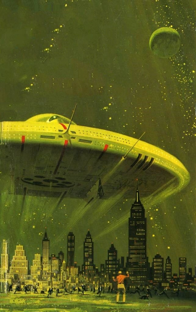 WhenUFOsWhisle UFO Over City ( httpsciencefictiongallery.tumblr.comimage88644060600 ) tumblr_n6xc1wdKm11rv0p43o1_1280