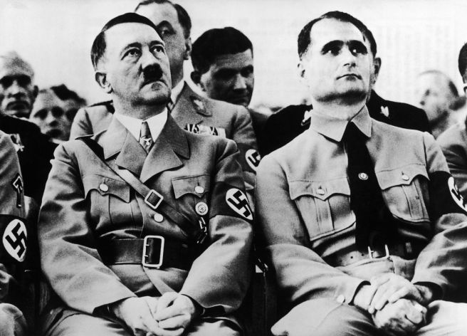 Nazi Hess Secrets Adolf Hitler and Rudolf Hess around 1934