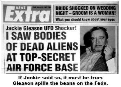 TheWildNight Gleason UFO JackieGleason-Headline-SawUFO
