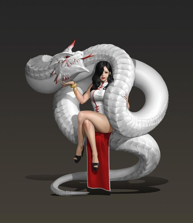 Photos Extra Lady Sitting on Snake img